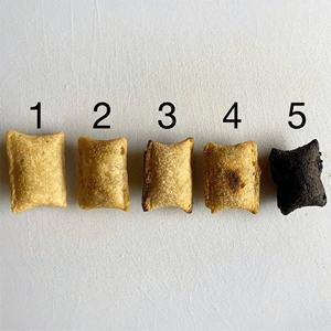 phases of pizza roll fry - Link to Instagram post