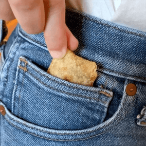 pizza roll in pocket - Link to Instagram post