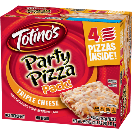 Triple Cheese Party Pizza Pack